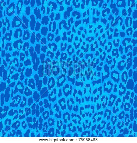 Seamless blue leopard texture pattern.