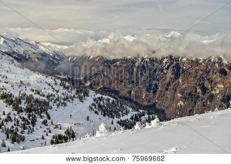 Winter Mountain Valley