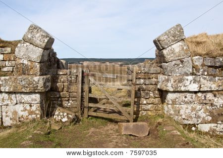 Broken Arch At Hadrians Wall