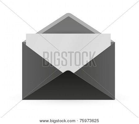 Black Envelope And Paper