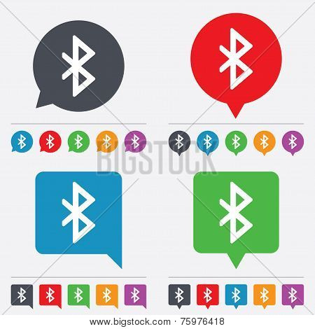 Bluetooth sign icon. Mobile network symbol.
