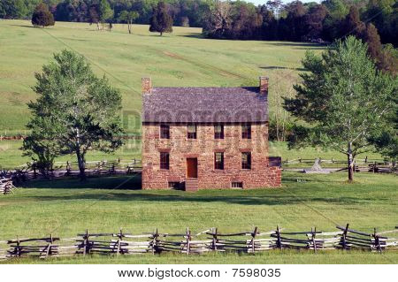 Historic Old Stone House at Civil War Battlefield Site