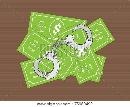 Bribe And Handcuffs