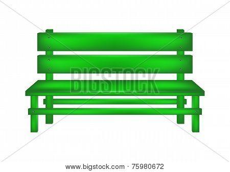 Rural bench in green design