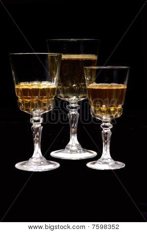 golden drink wine crystal