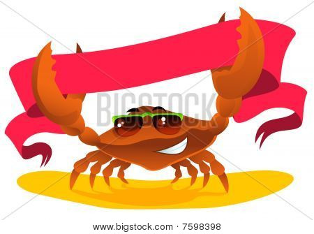 Crab With Ribbon.
