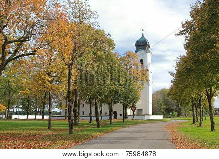 Pilgrimage Church In Autumn