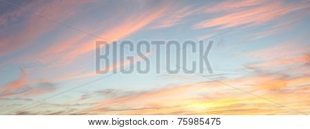 Pastel Colored Sunset Sky