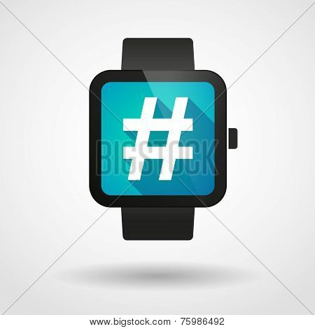 Smart Watch Icon With A Hash Tag