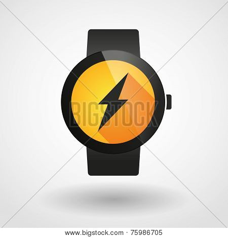 Smart Watch Icon With A Lightning