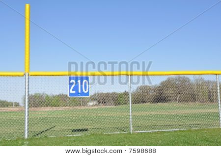 Baseball Foul Pole And Outfield Fence