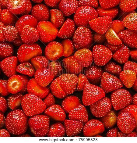 Strawberries Background.