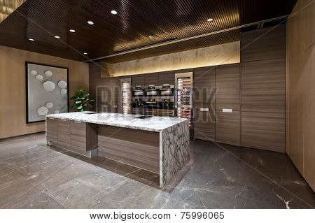 Kitchen Area With Marble Floor