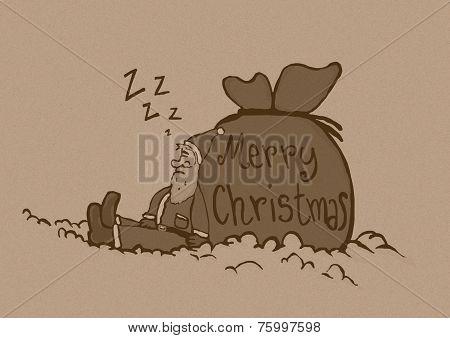 Sleeping Santa Vintage