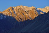 picture of karakoram  - beautiful morning light on top of mountain in Northern Pakistan - JPG