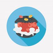 pic of cream puff  - Cream Puffs Flat Icon With Long Shadow - JPG