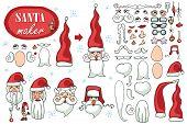 stock photo of santa claus hat  - Constructor or Santa Claus face - JPG