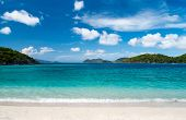 stock photo of virginity  - Beautiful tropical beach with white sand - JPG