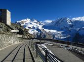 pic of rosa  - View from the Gornergrat Summit Station - JPG