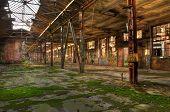 foto of leipzig  - Abandoned warehouse in Leipzig in east germany - JPG