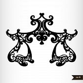 pic of libra  - Zodiac signs black and white  - JPG