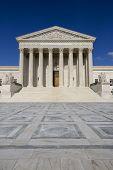 stock photo of judiciary  - Supreme courthouse in Washington - JPG
