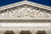 foto of judiciary  - Frieze on top of Supreme Court house in Washington - JPG