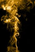 picture of gases  - Golden smoke - JPG