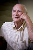 stock photo of senior men  - Smiling elderly man - JPG