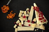 picture of sea-buckthorn  - Cheese platter with redcurrant and sea buckthorn jam - JPG