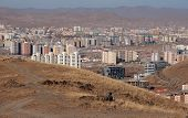 foto of ulaanbaatar  - Modern building in Ulanbator capital town,Mongolia country ** Note: Visible grain at 100%, best at smaller sizes - JPG