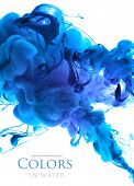 foto of pigment  - Acrylic colors in water - JPG