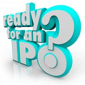 stock photo of initials  - Ready for an IPO - JPG