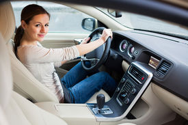 pic of designated driver  - woman driving a car - JPG