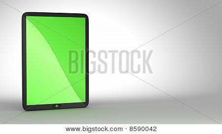 Tablet Pc With Green Colored Screen