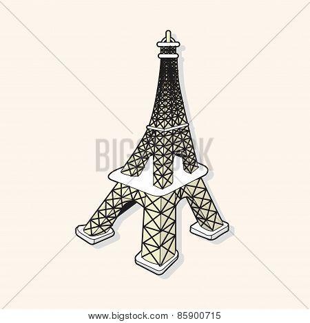Eiffel Tower Theme Elements Vector,eps