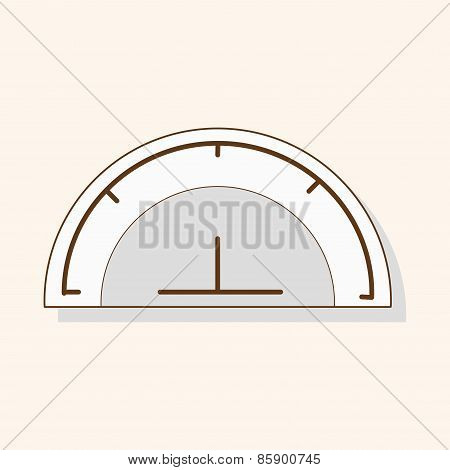 Stationary Protractor Theme Elements Vector,eps