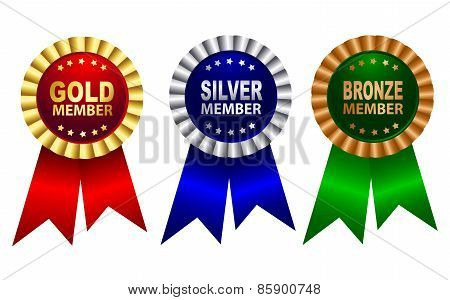 Membership Award Ribbon Rosette