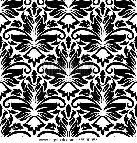 Dainty floral seamless pattern with diamond flowers