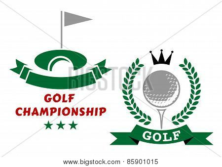 Golfing championship emblems or badges
