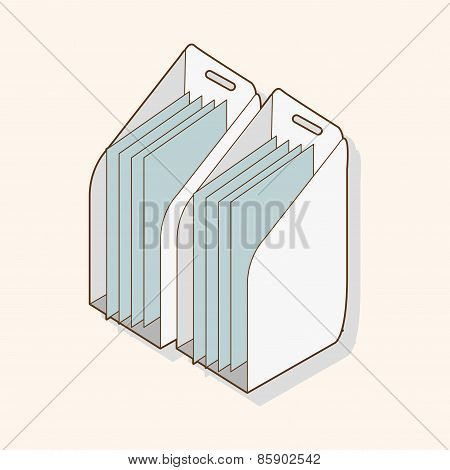 Stationary Document Case Theme Elements Vector,eps