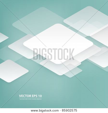 Vector design with rhombus on the grey