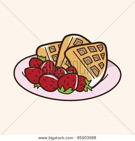 Pancake Theme Elements Vector,eps