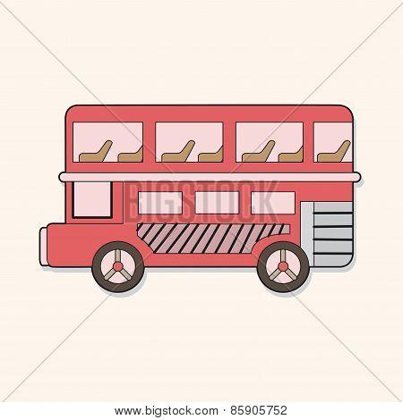 Double-decker Bus Theme Elements Vector,eps