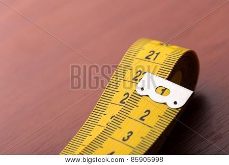 Yellow measurement tape