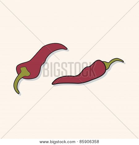 Vegetable Theme Chilli Elements Vector,eps
