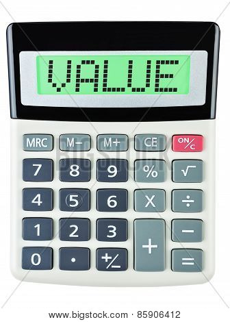Calculator With Value