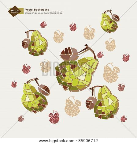 decorative vector background with colorful peas