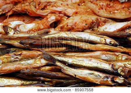 Fresh Smoked Fish Background