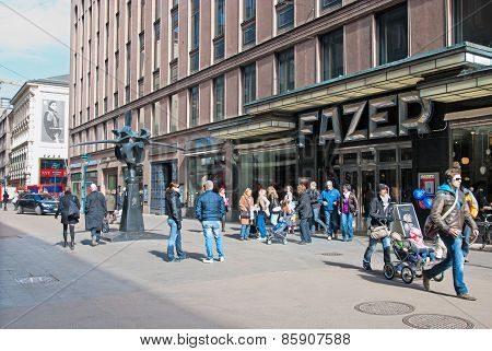 Helsinki. Finland. The Karl Fazer Cafe